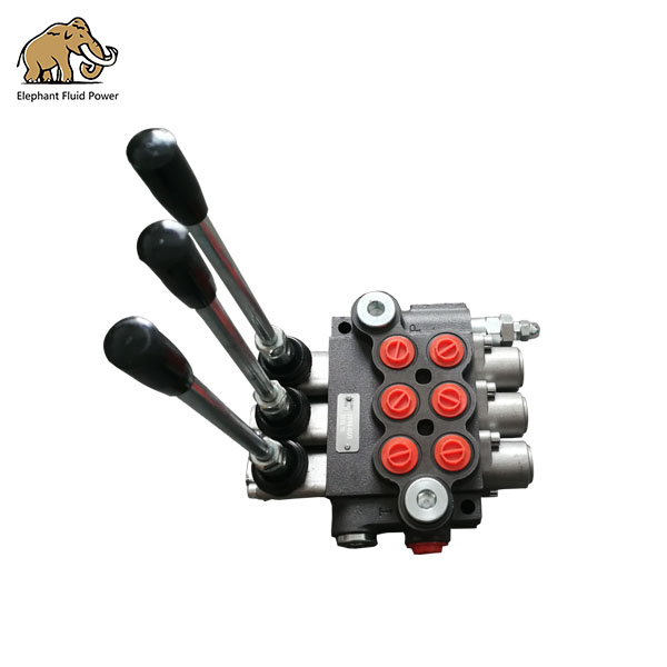 Hydraulic Hand Drills Directional Control Valve 3 Spool P40