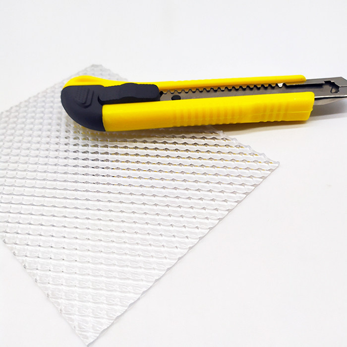 Embossed polycarbonate sheet