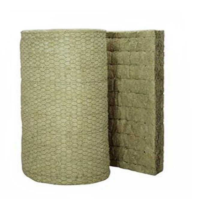 Fire Safety Rock Wool Blanket With Wire Mesh