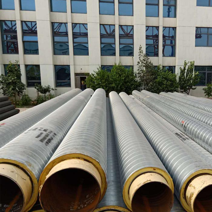 Galvanized iron jacket insulated pipe