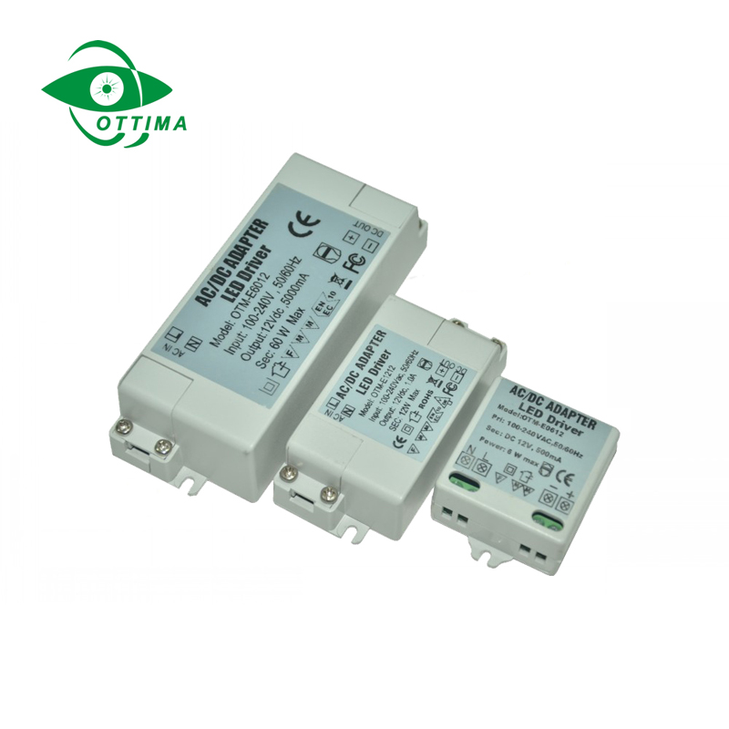 12v 6W LED driver 12v 6w constant voltage IP20 LED driver power transformer for strip sign light