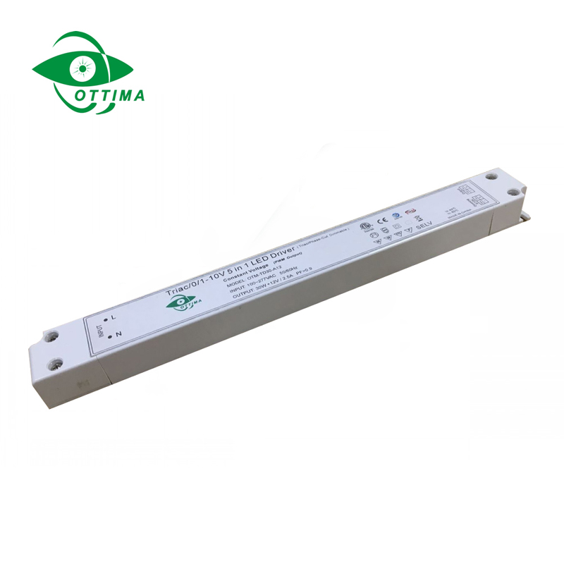 12v 30w slim 5 in 1 dimmable led driver  5 in 1 dimmable led driver China  high quality LED driver price