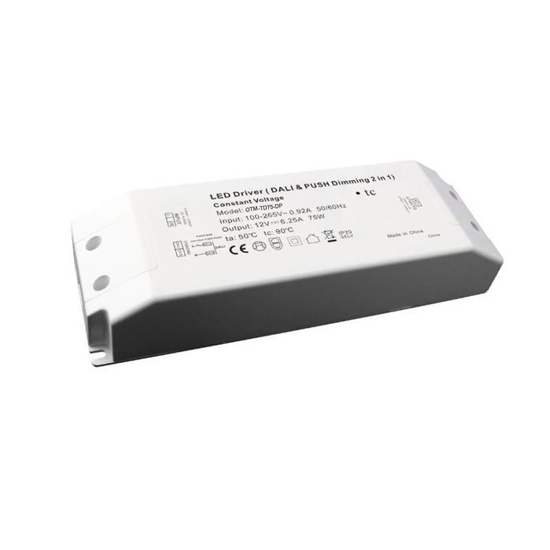 75w 12v/24v DALI & Push dimmable LED driver  dimmable waterproof LED driver  Push dimming power supply