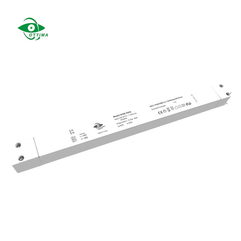 100w 12v slim CV DALI & PUSH dimmable waterproof LED driver