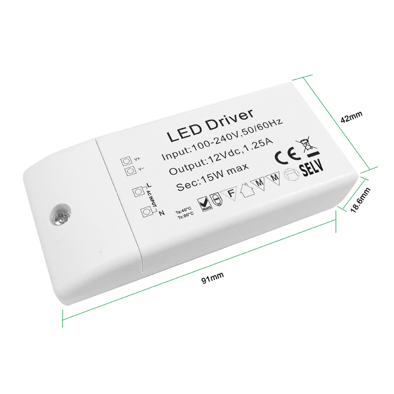 24v 15W mini LED driver  china LED driver for sale  Mini LED driver supplier