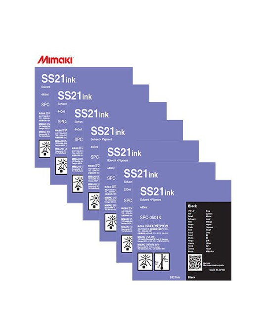 Mimaki SS21 Solvent Ink Cartridge 440ml Silver