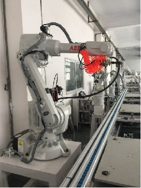 6 Axis robotic dispensing assembly line