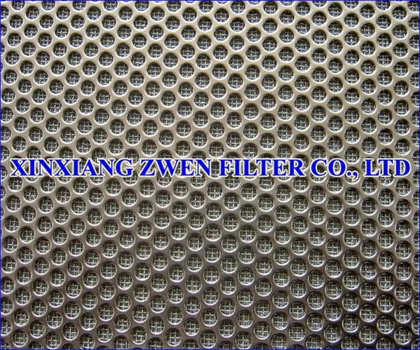 Perforated Plate Sintered Wire Mesh