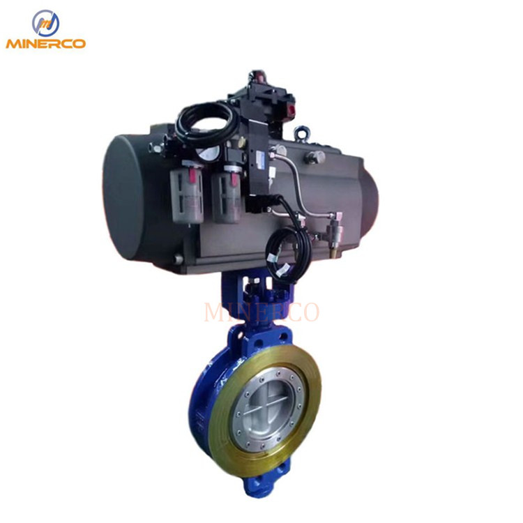 Stainless Steel CF8 CF8m Hand Lever Wafer Butterfly Valve with Positioner