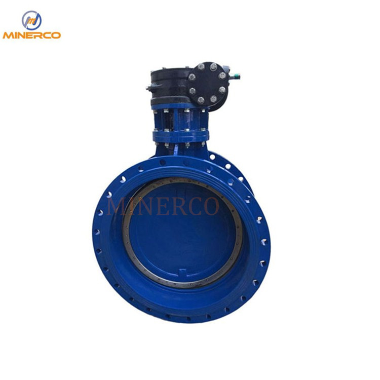 Hard Seal Flange Ductile Iron Material Gear Box Butterfly Valve