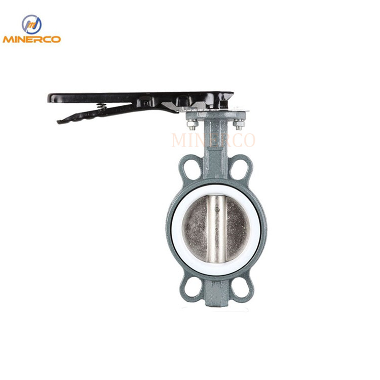 Corrosion Resistance PTFE Seat Wafer Stainless Steel Butterfly Valve