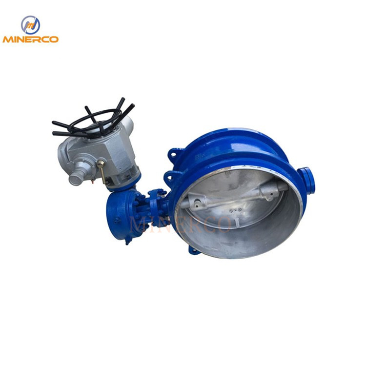Hot Seal Carbon Steel Hard Seal Double Flange 10 Inch Electric Butterfly Valve