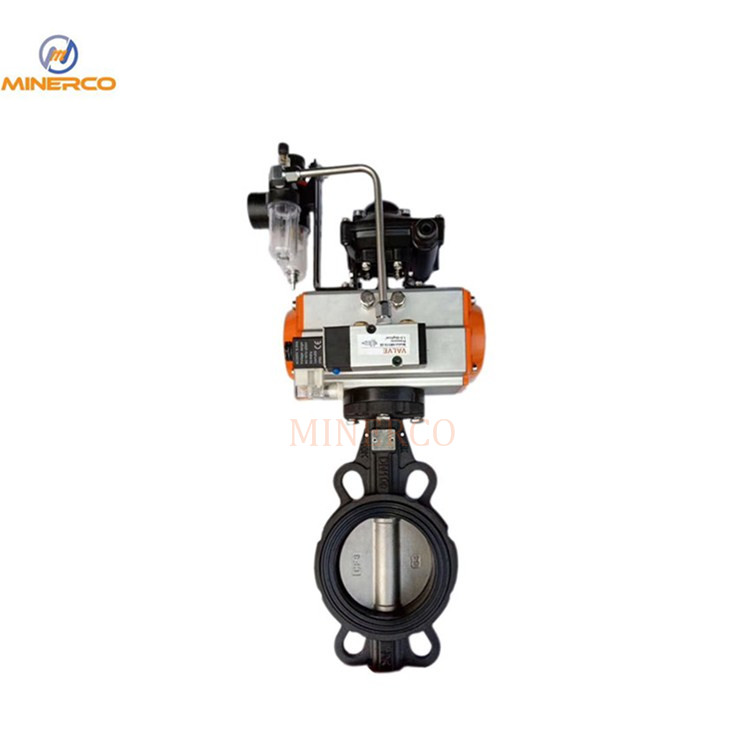 Wafer Manual Electric Pneumatic Ductile Iron Butterfly Valve