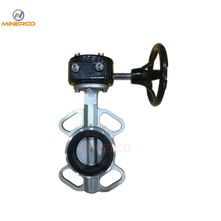 Worm Gear Box Stainless Steel Wafer Butterfly Valve