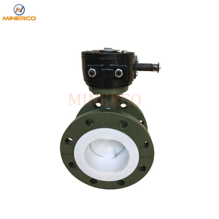 PTFE Soft Seat Flange Connection Cast Steel Material Manual Butterfly Valve