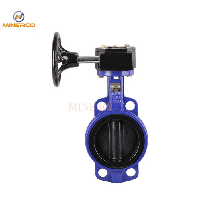 EPDM Rubber Wafer Type Ductile Iron Material Hand Lever Butterfly Valve