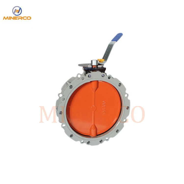 Dust Butterfly Valve Aluminium Alloy Pneumatic Actuator Butterfly Valve for Cement