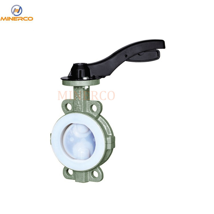 Ductile Iron Pneumatic PTFE Lined Butterfly Valve