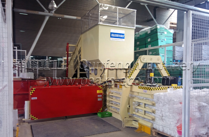 The introduction of waste compacting machine  Semi Automatic Baler