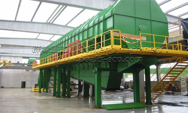 Sanitation equipment cleaning process about waste sorting system