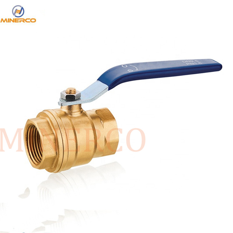 Factory Water Supply 1inch Wog Nickel Plate Long Handle Brass Ball Valve