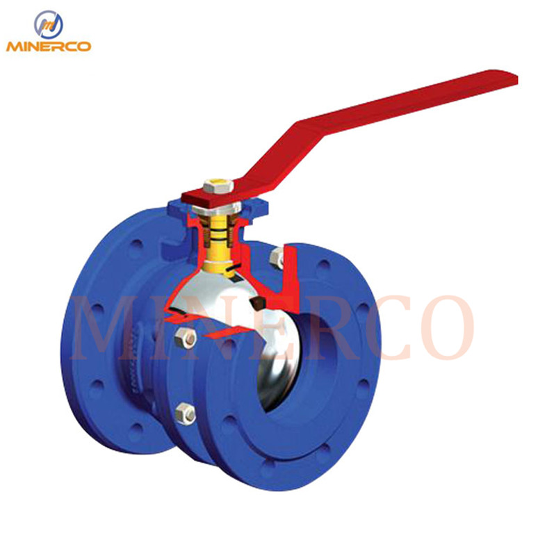 High Quality DIN Flanged Ball Valve Hand-Lever Pn16 2-PC Cast Iron Ball ValveHigh Quality DIN Flanged Ball Valve Hand-Lever Pn16 2-PC Cast Iron Ball Valve