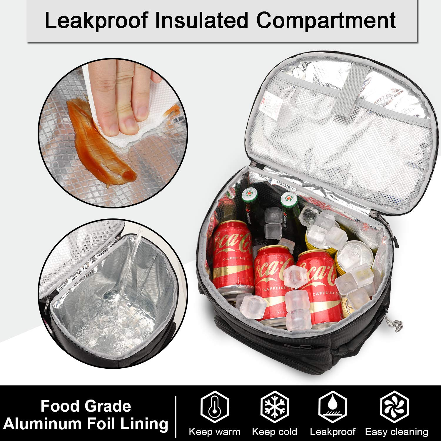 MIER Leakproof Backpack Cooler with iPad, Tablet Pocket for Work, Picnic, Hiking, Day Trips