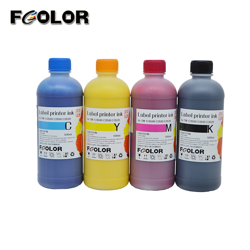 FCOLOR Label Printing Pigment Ink For Epson TM-C3520 Label Printer