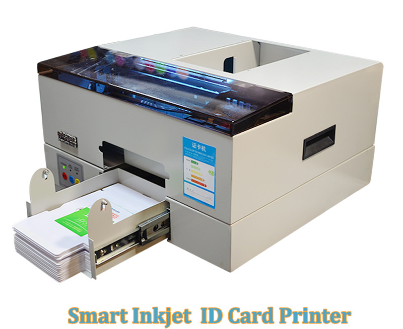 Smart Automatic Inkjet PVC ID Card Printer