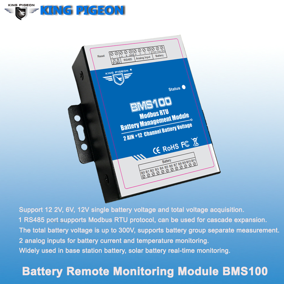 BMS100 Battery monitoring management system for BTS server room battery pack solar pannel battery monitoring control IoT solution