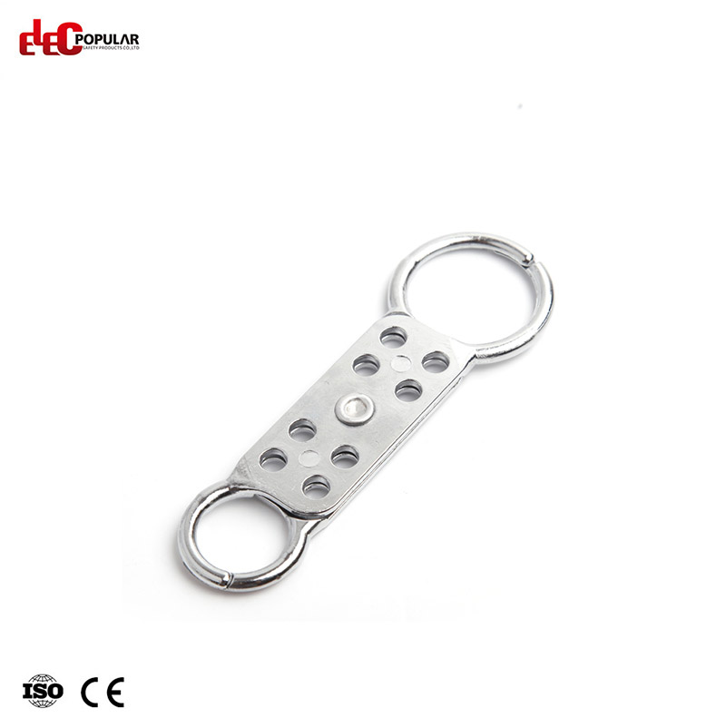 8 Holes Aluminum Lockout Hasp EP-K61  Aluminium Lockout Hasps  Steel Shackle Padlock