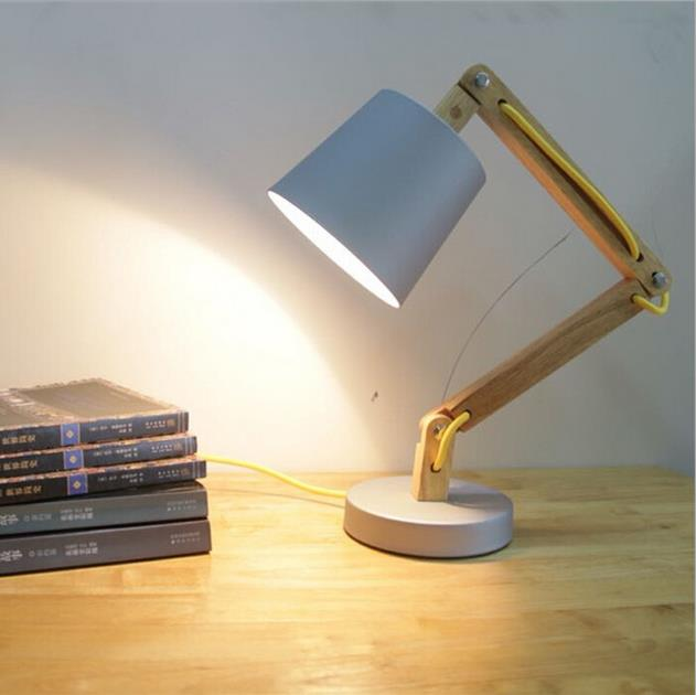 Scandinavian Table Lamp, wooden table light, wood night lamp