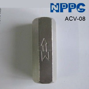 Pneumatic check valve. Model: ACV-08 1/4.Material: Brass.