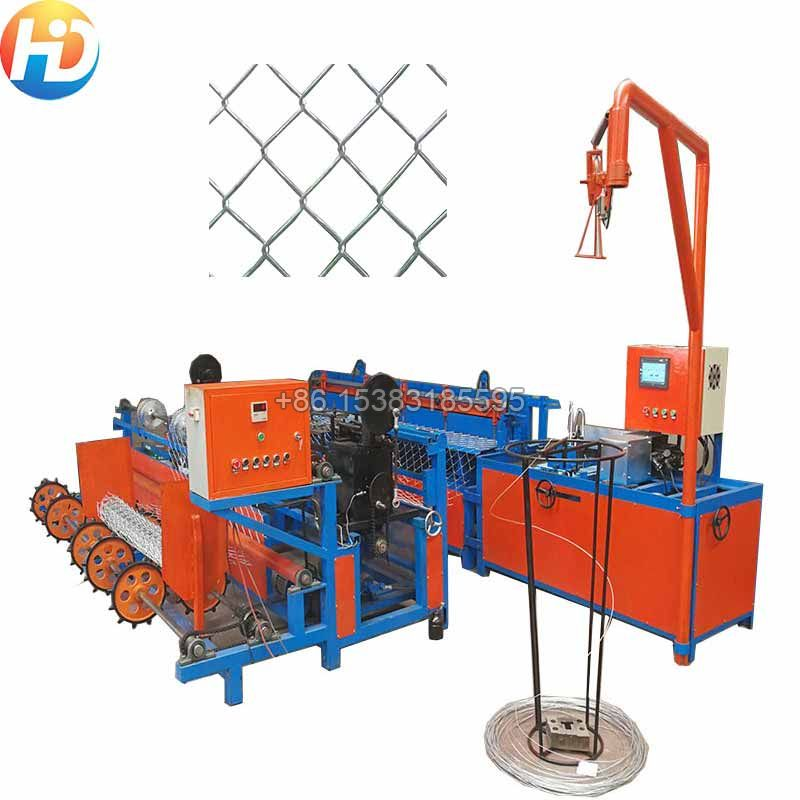 Single Wire Fully-Automatic Chain Link Fence Machine