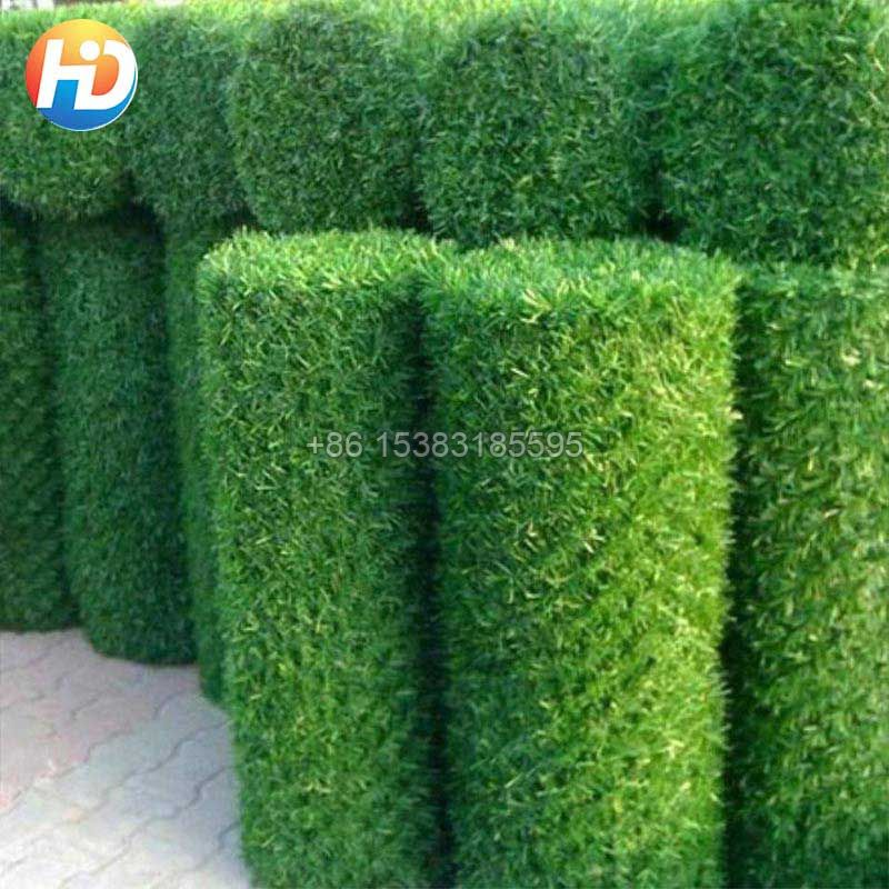 Artificial Grass Hedge Link Green Chain Link Fence