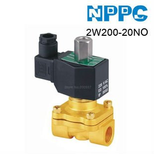 High quality 2way Fluid Brass solenoid valve.Normally Open type. Model: 2W200-20NO