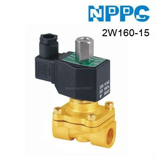 High quality 2way Fluid Brass solenoid valve.Normally Open type. Model: 2W160-15