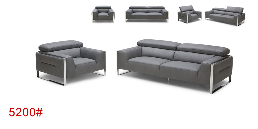 European Contemporary Style Leather Sectional Sofa 5200#