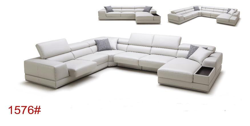 European Style Luxury Modern Leather Sofa For Living Room 1576#