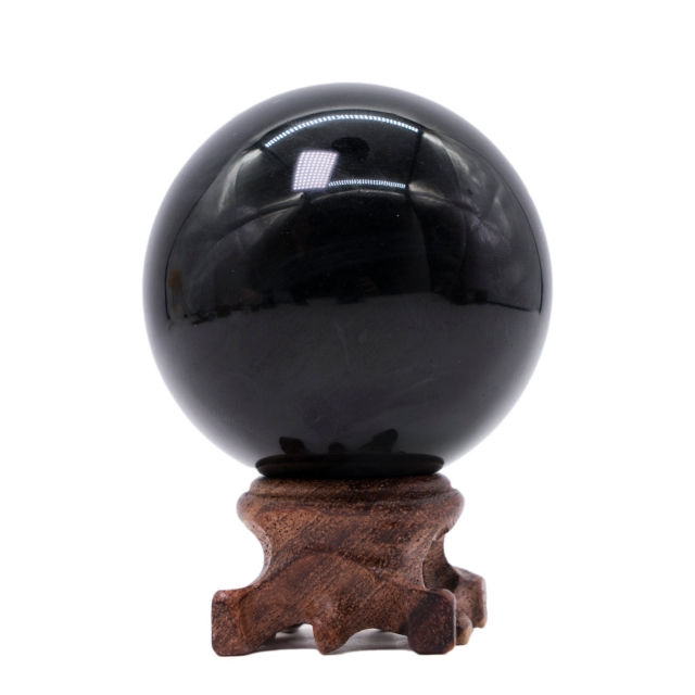 Yinglai 2.6 Natural Crystal Sphere Obsidian Sphere/Ball, Meditation Crystals