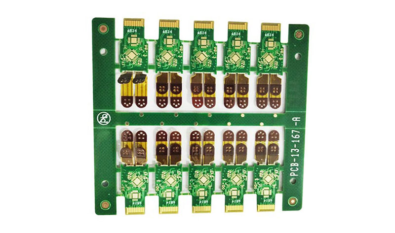 2-layer PCB with rigid-flex and HDI structure flexible printed circuit