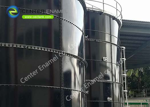 40000 Gallon Glass Fused To Steel Wastewater Storage Tanks For Industrial Wastewater Treatment Plant