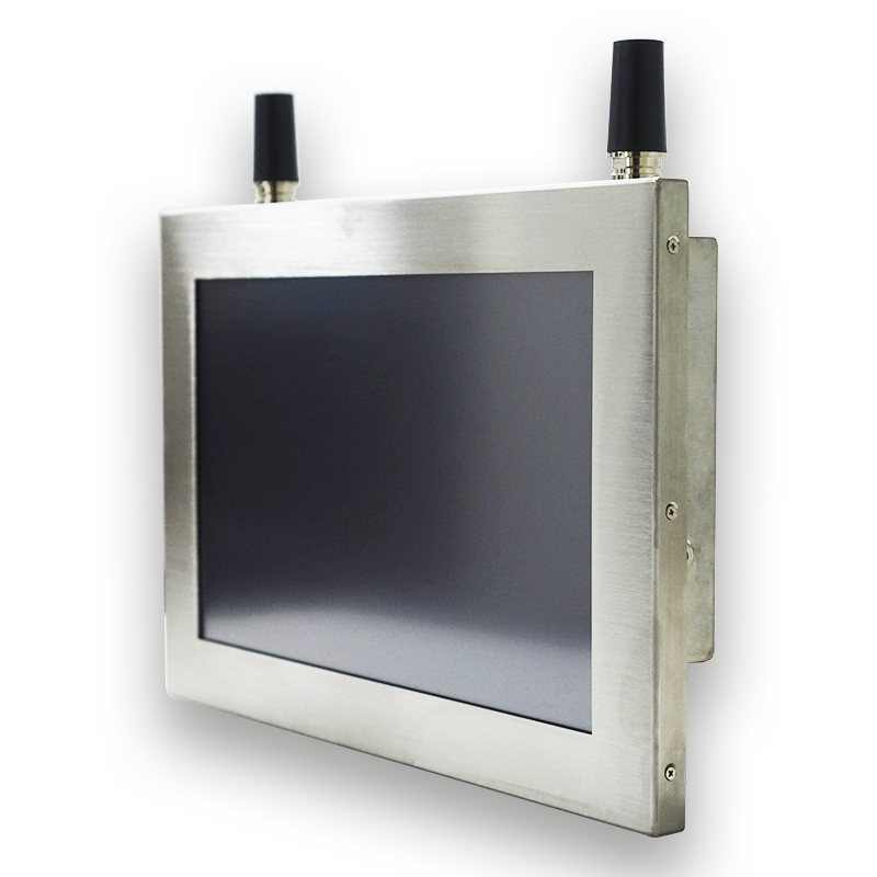 15 inch embedded mounting waterproof true flat panel industrial pc stainless steel resistive touch screen pc