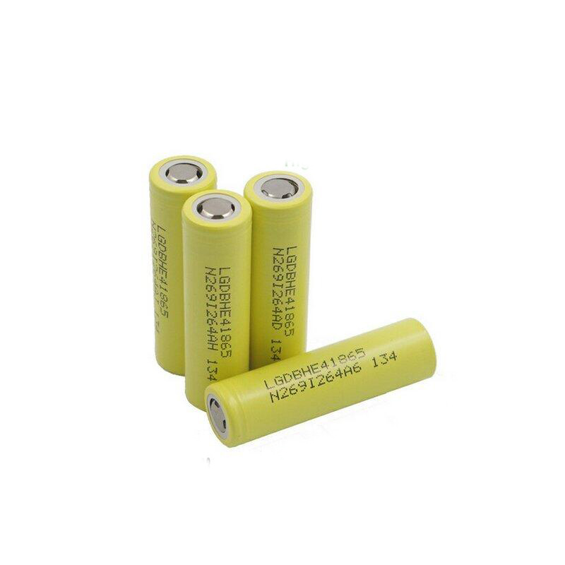 Li ion LG 18650 HE4 2500mAh 20A rechargeable battery
