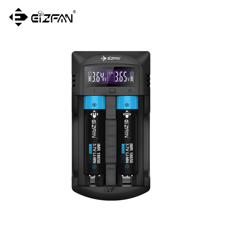 Efan WF1 Li-ion/IMR/AA/AAA batteries LCD 2 Bay Intellicharge charger