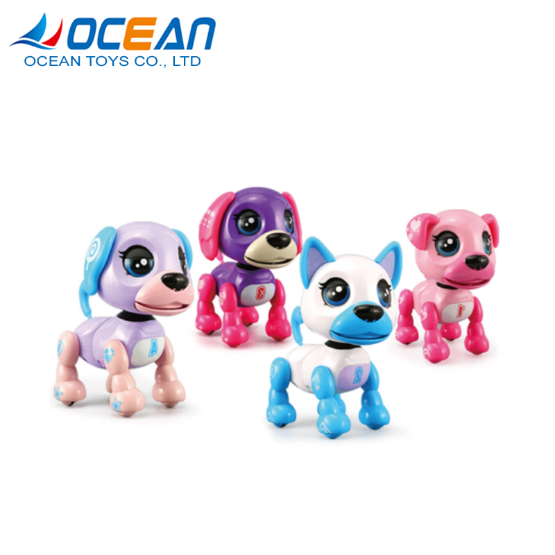 Small interactive touch gesture battery operated dog pocket toys