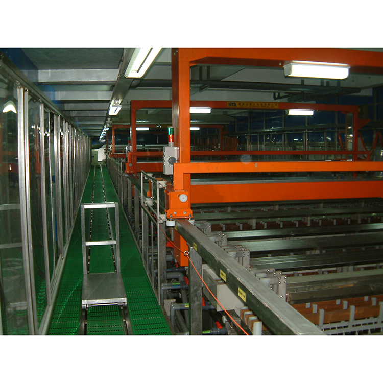 Vertical copper nickel chrome electroplating line for hardware