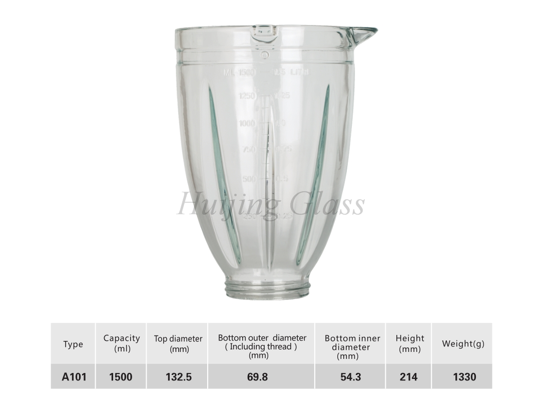 (A101)high capacity blender jar 1.5L spare parts hot sell