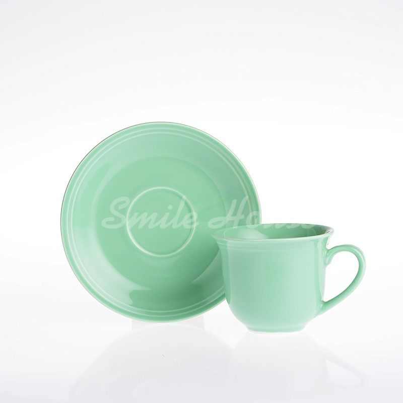custom green ceramic set Dishes
