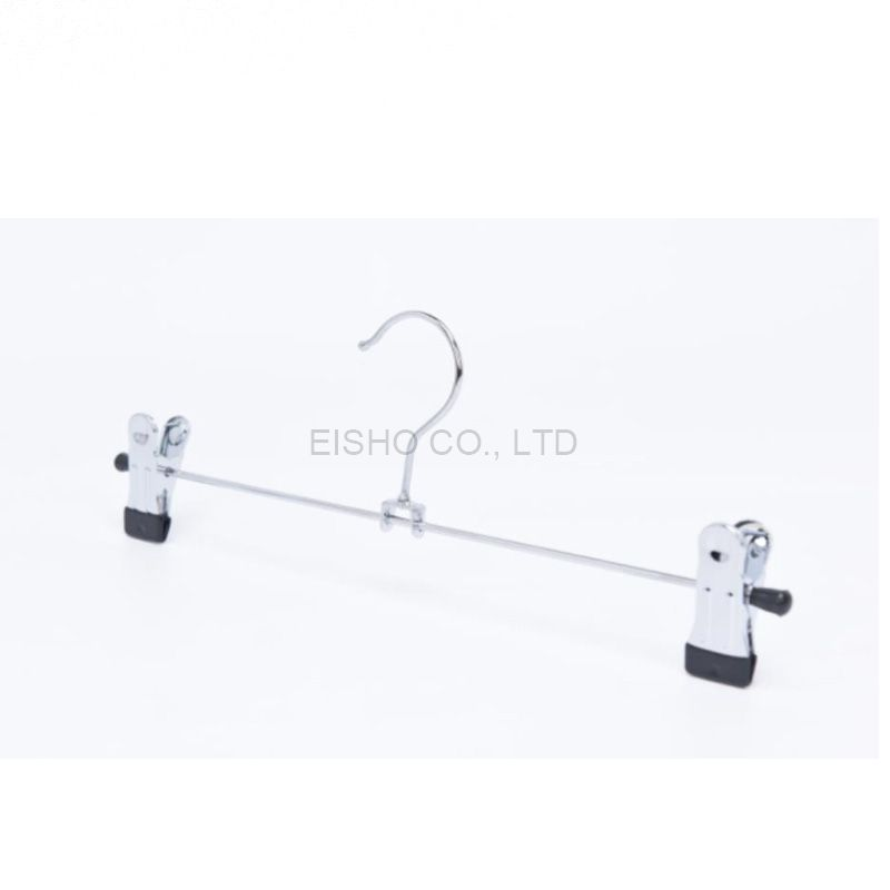 metal hanger for pants hot sale steel wire pants hanger with clips